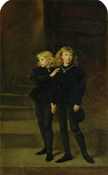 The Two Princes Edward and Richard in the Tower, 1483 by Sir John Everett Millais (1878)