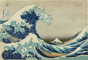 The Great Wave off Kanagawa by Hokusai (1833)