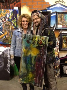 K.M. Walton and Bam Margera