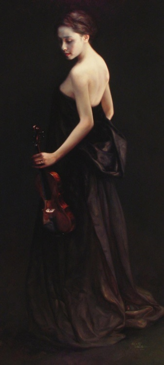 The Violinist by Zhao Kalin
